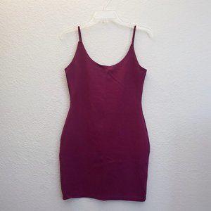 Brick Red Bodcon Mini Spaghetti Strap Dress